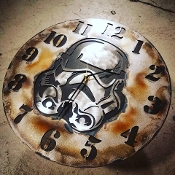 "STEEL WALL CLOCK ""STORMTROOPER"""