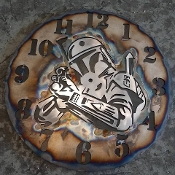 "STEEL WALL CLOCK ""BOBA FETT"""