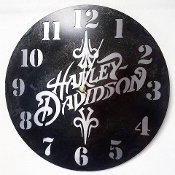 "Steel Wall Clock ""HD"""